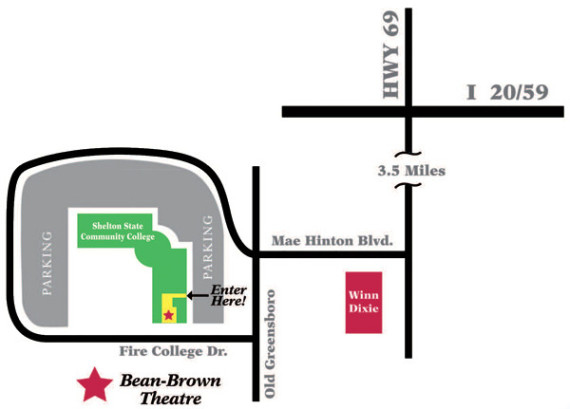 Greensboro College Campus Map.Maps Directions And Parking Theatre Tuscaloosa
