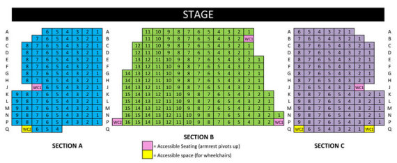 Bean-Brown Theatre Seating Chart